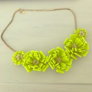 LOFT oversized Floral collar necklace